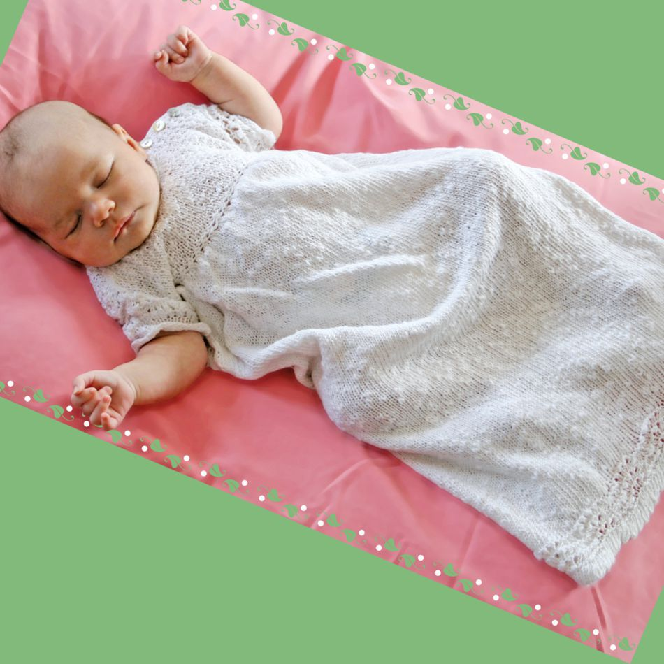 Knitting Patterns Christening Gown  Block Island Blend