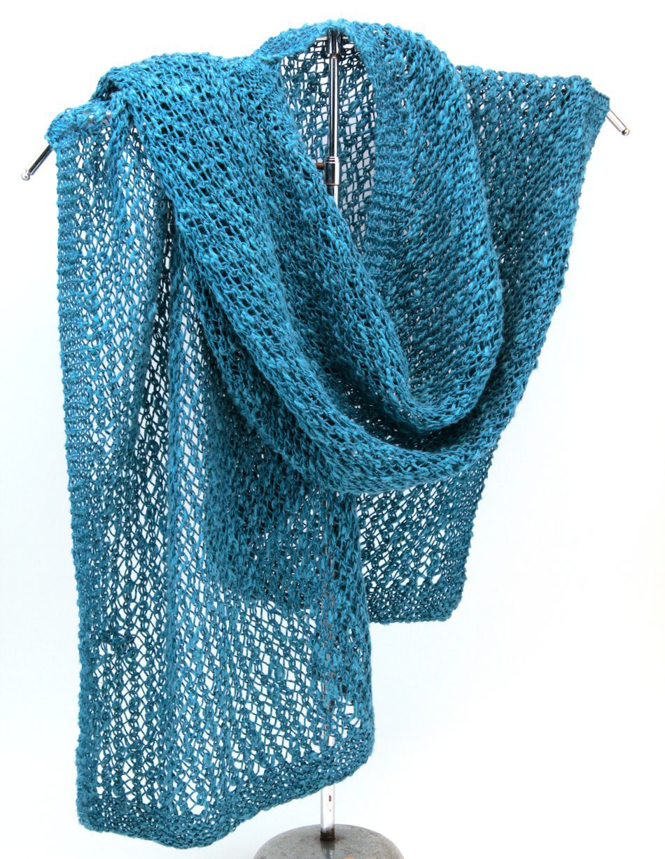 Heirloom Lace Scarf In Signature Block Island Blend Knitting