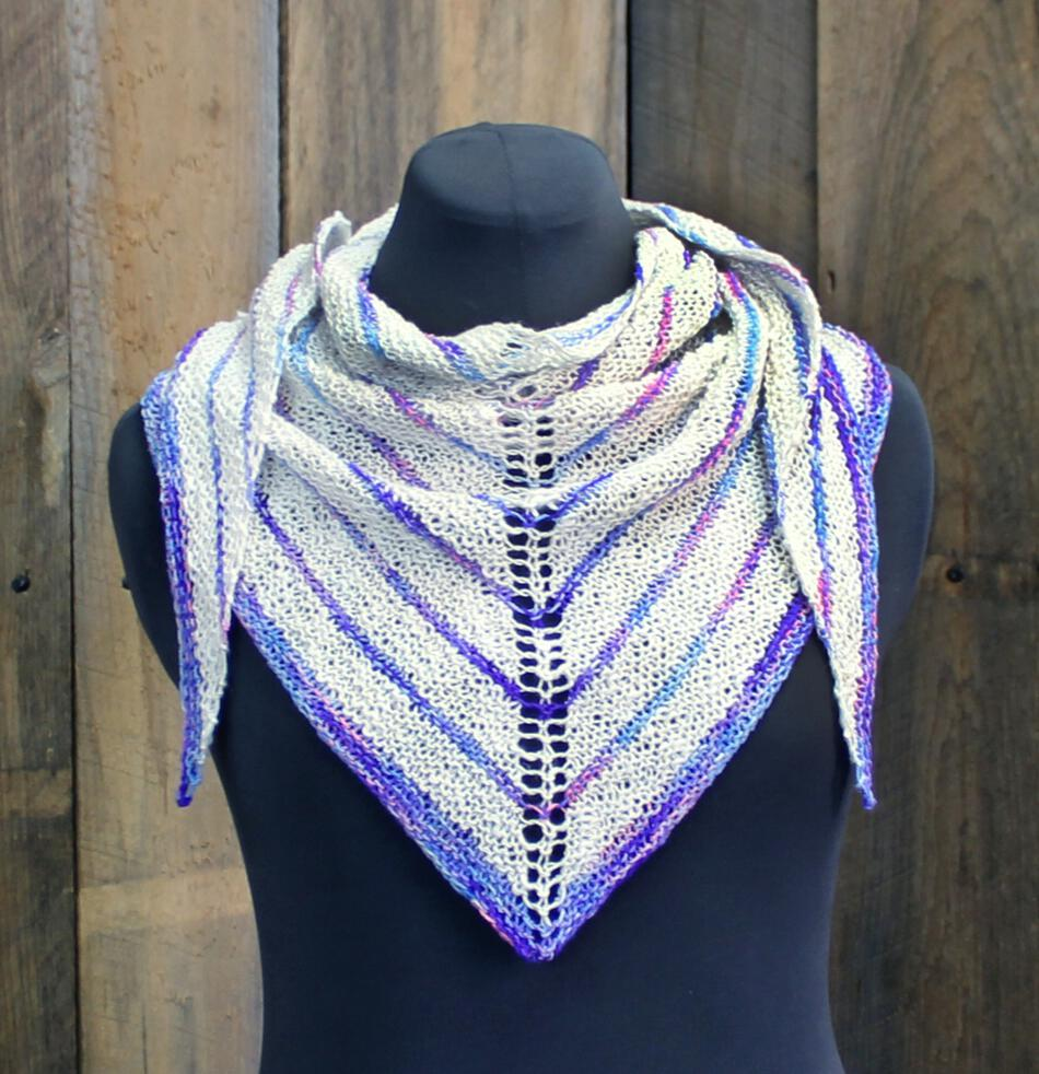 Knitting Patterns Electric Avenue Shawlette