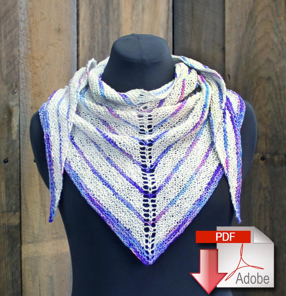 Knitting Patterns Electric Avenue Shawlette  Pattern Download