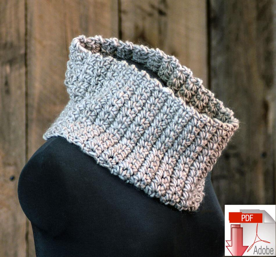 Crochet Patterns Easy Learn to Crochet Cowl Pattern Download