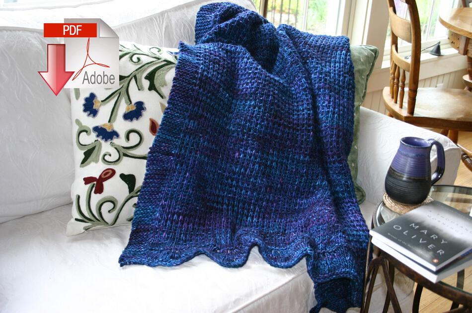 Knitting Patterns Family Favorite Throw  Pattern Download