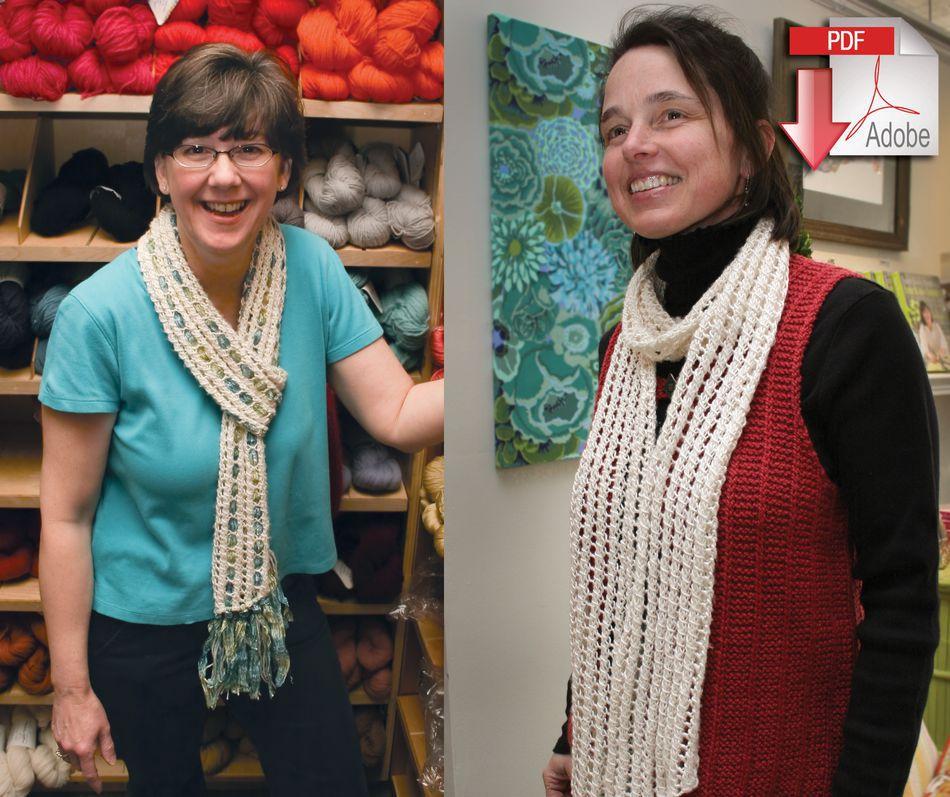 Silk And Sari Ribbon Scarf Pearl Cotton And Sari Silk Pattern