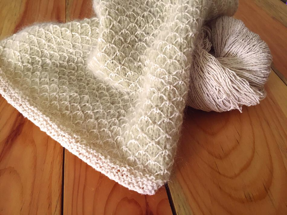 Quilt Stitch In Knitting : Royal Quilt Stitch Cowl Pattern, Knitting Pattern - Halcyon Yarn