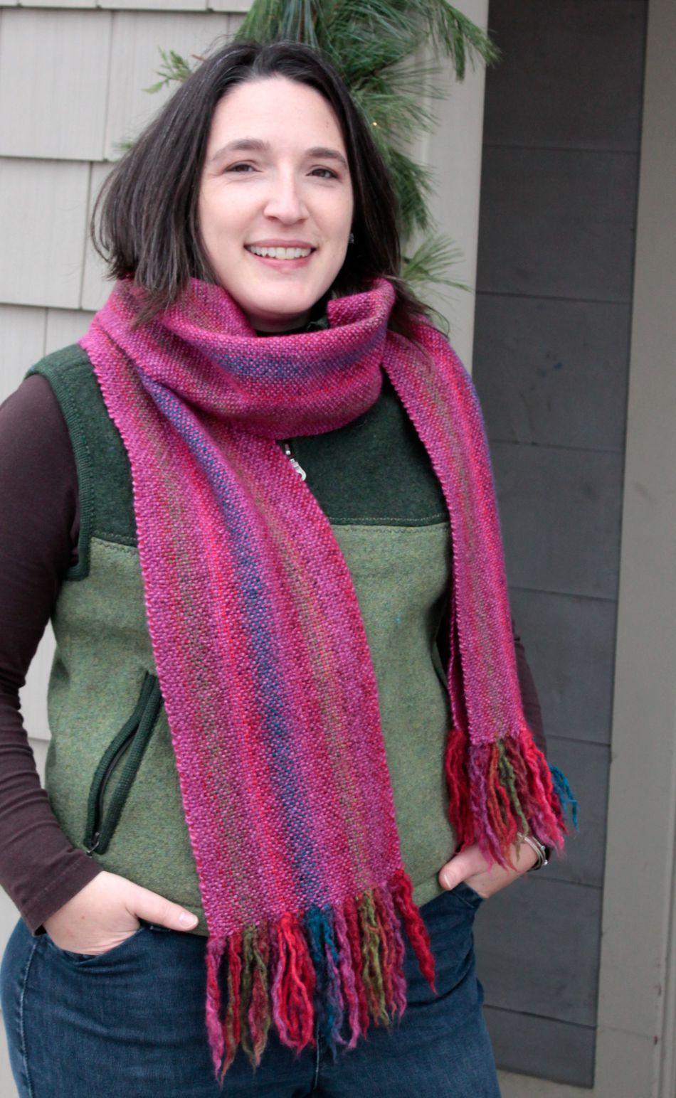 Weaving Patterns Chill Chaser Woven Scarf