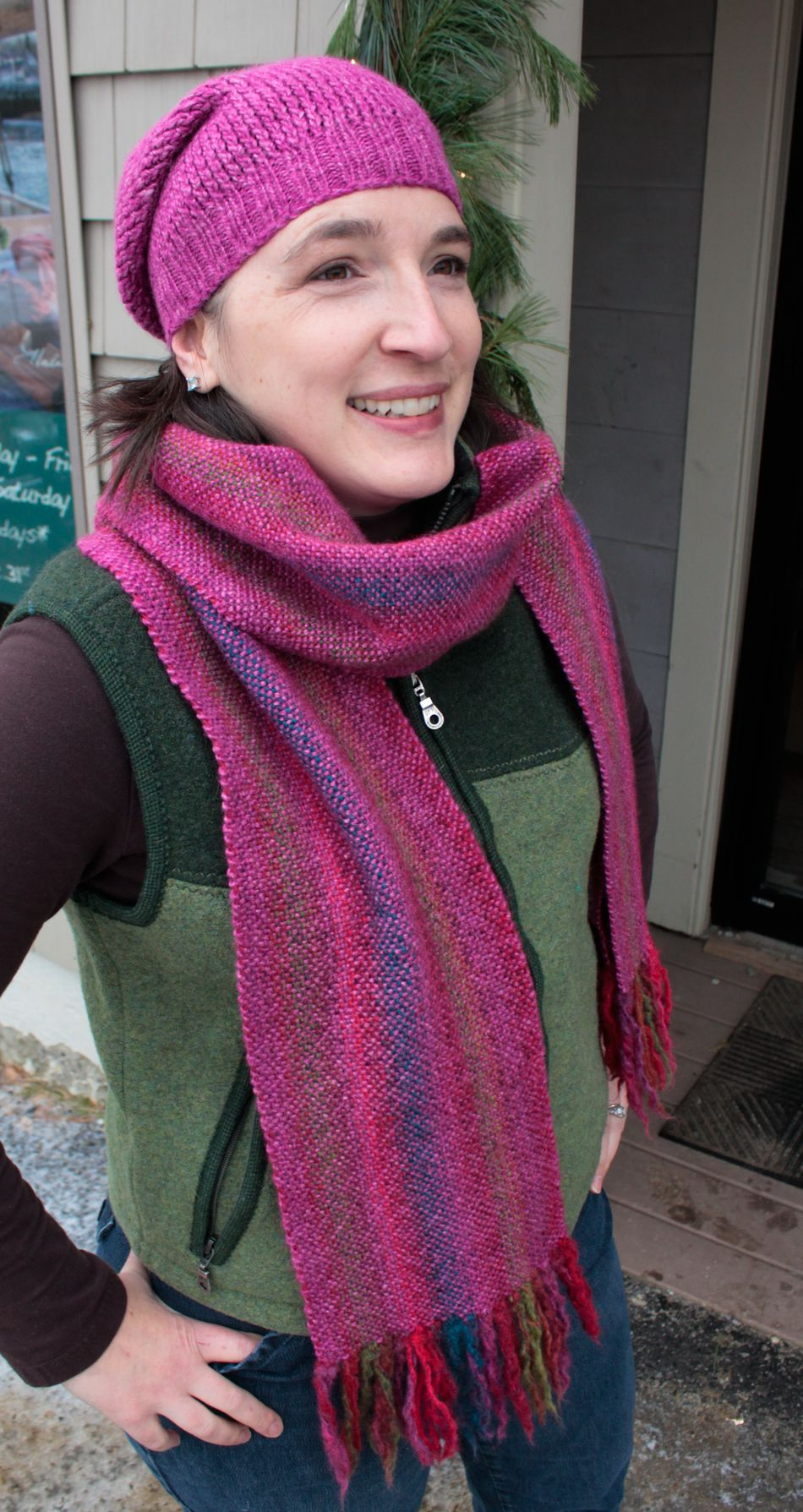 Weaving Kits Chill Chaser Woven Scarf Kit  Winterberry