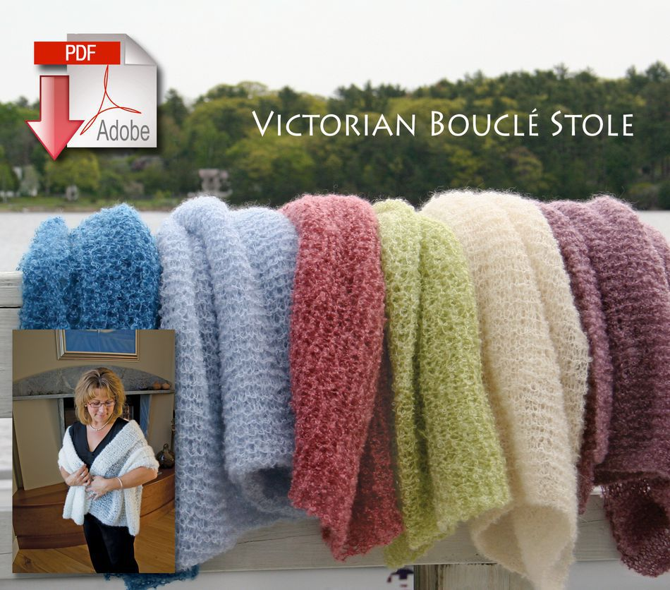 Knitting Patterns Victorian Boucle Stole  Pattern download
