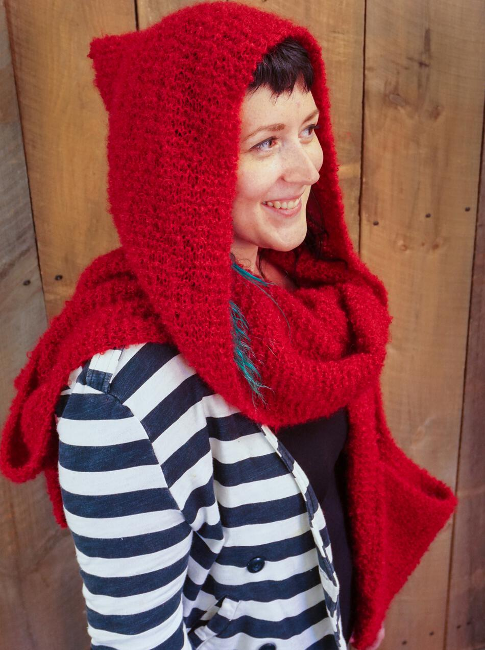 Free Knitting Pattern Hooded Scarf Pockets : Gimme Shelter - Hooded Scarf with Pockets, Knitting ...