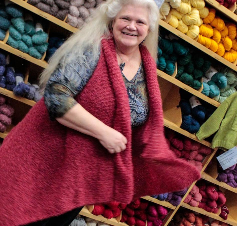 Boucle Yarn Knitting Patterns : Victorian Boucle Wrap - Pattern download, Knitting Pattern - Halcyon Yarn