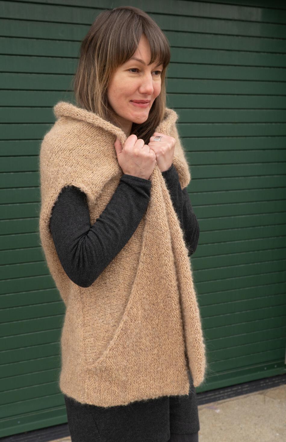 Boucle Cocoon Vest Knitting Pattern, Knitting Pattern ...