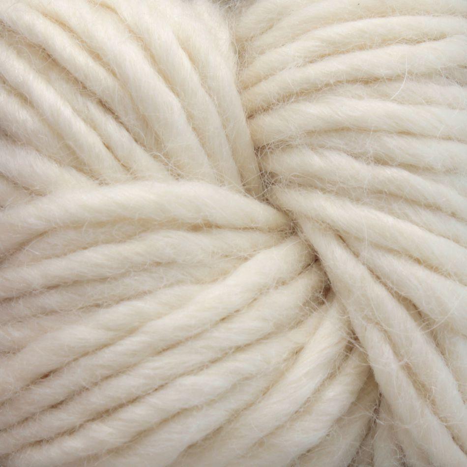 Bulky 40% Wool, 40% Alpaca, 20% Silk Yarn:  color 0100