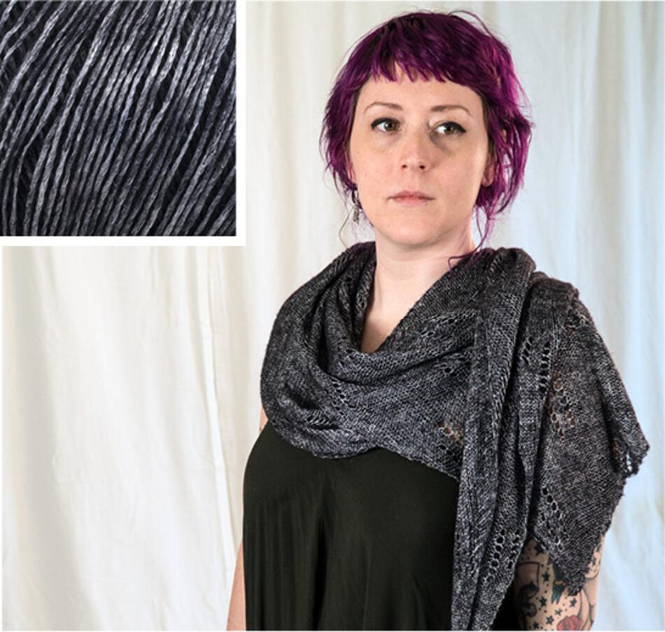 Knitting Kits All Through the Night Wrap Kit  Black