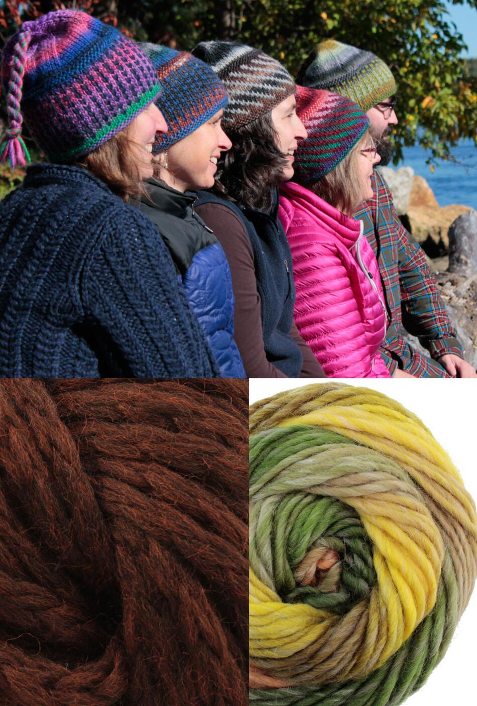Knitting Kits Alpine Topper Hat Kit  multi wchestnut