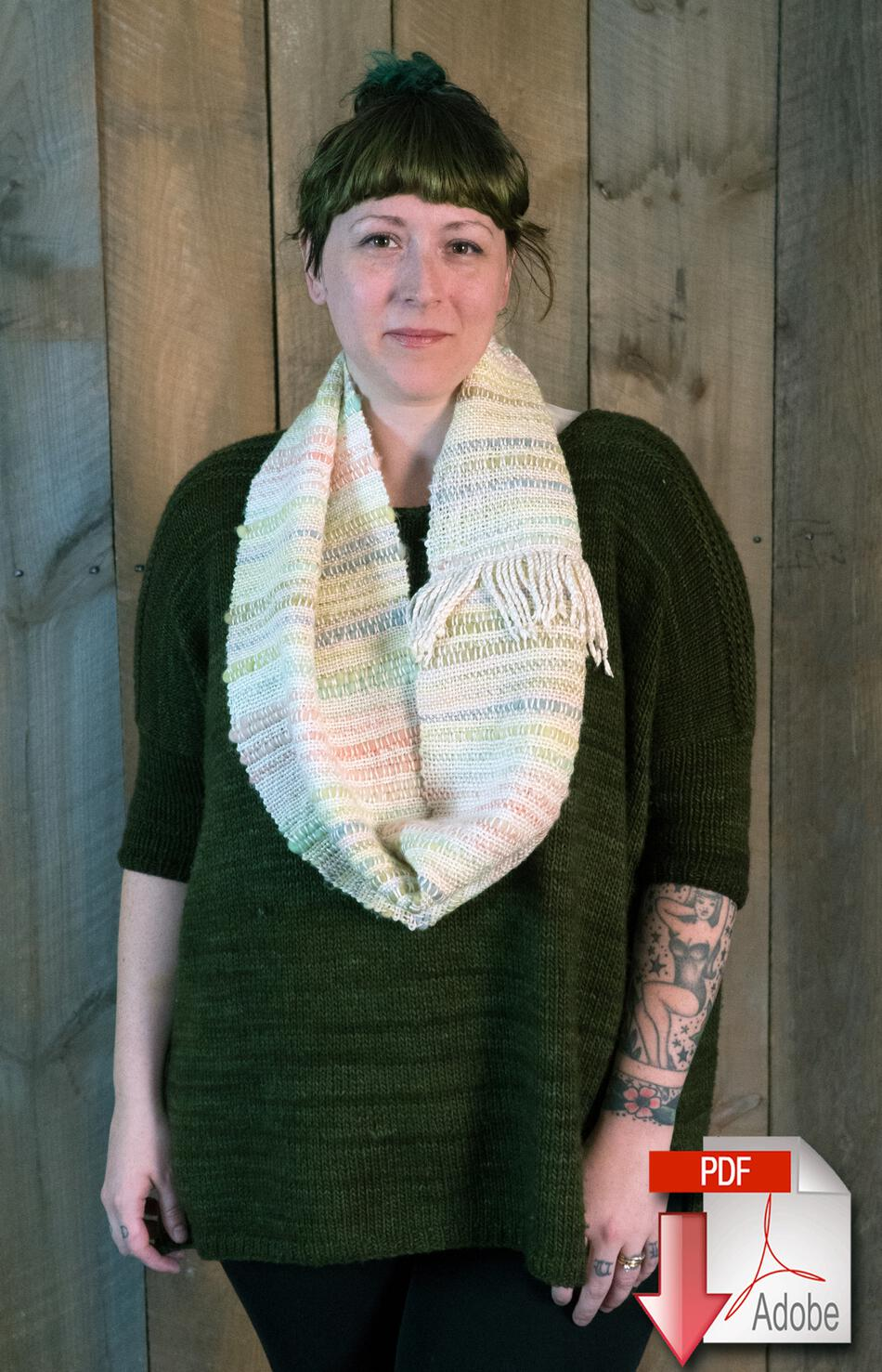 Weaving Patterns Both Sides Now  Woven Cowl Pattern Download