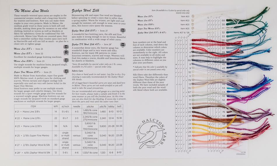 MultiCraft Equipment Jagger Spun Sample Card