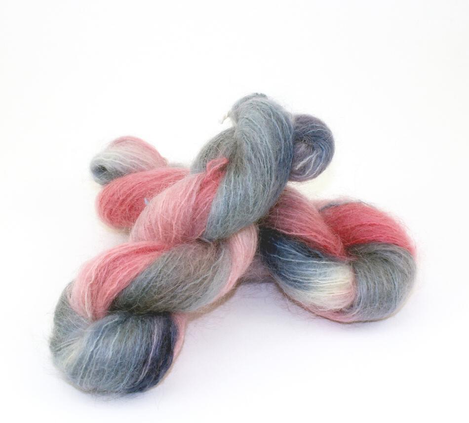 Medium 74% Mohair, 16% Wool, 10% Nylon Yarn:  color 0001