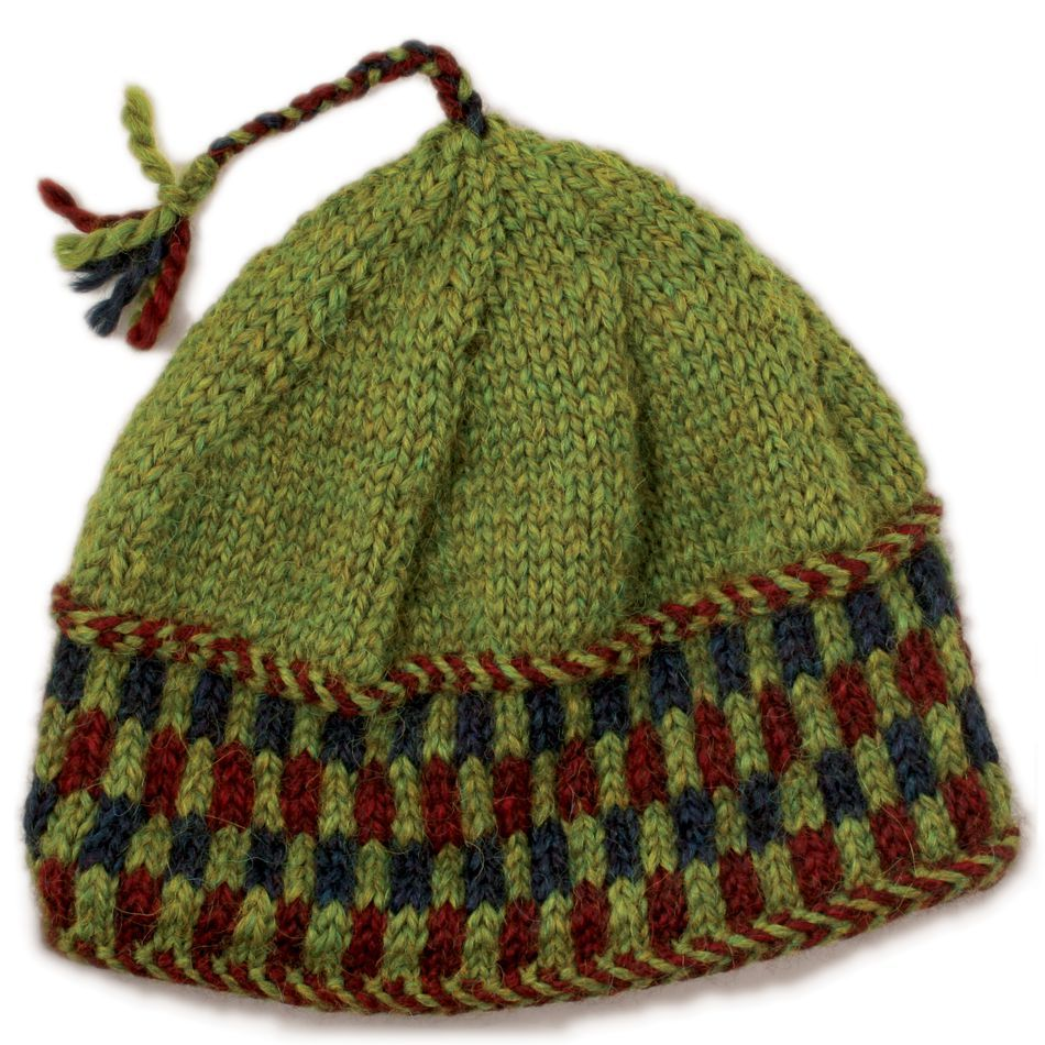 Knitting Patterns Checkerboard Hat  Bulky Weight