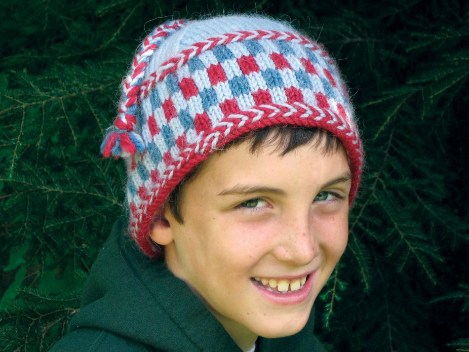 Free Knitting Pattern Hat With Bulky Yarn : Checkerboard Hat - Bulky Weight - Pattern download ...