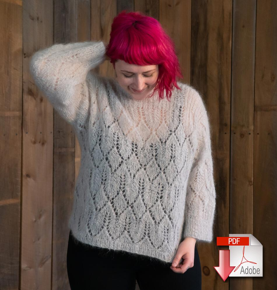 4b28ed582 Atmosphere Lace Mohair Pullover Sweater Pattern Download Knitting Pattern -  Free with yarn purchase