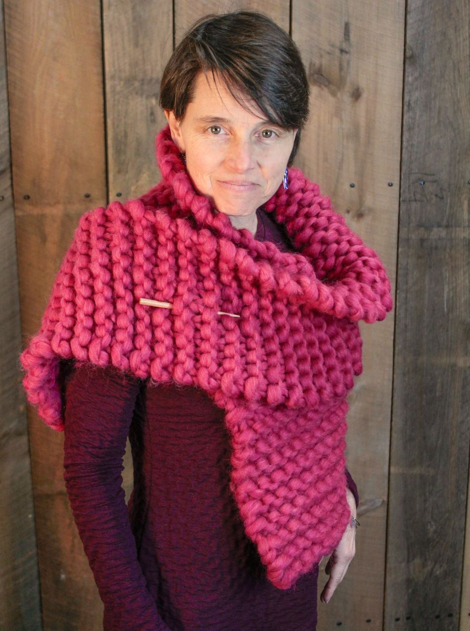 The Bold Beauty Wrap, Knitting Pattern - Halcyon Yarn