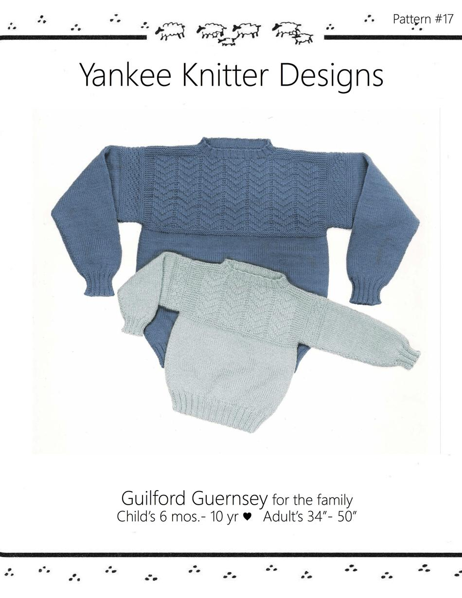Guilford Guernsey - Yankee Knitter Download, Knitting Pattern ...