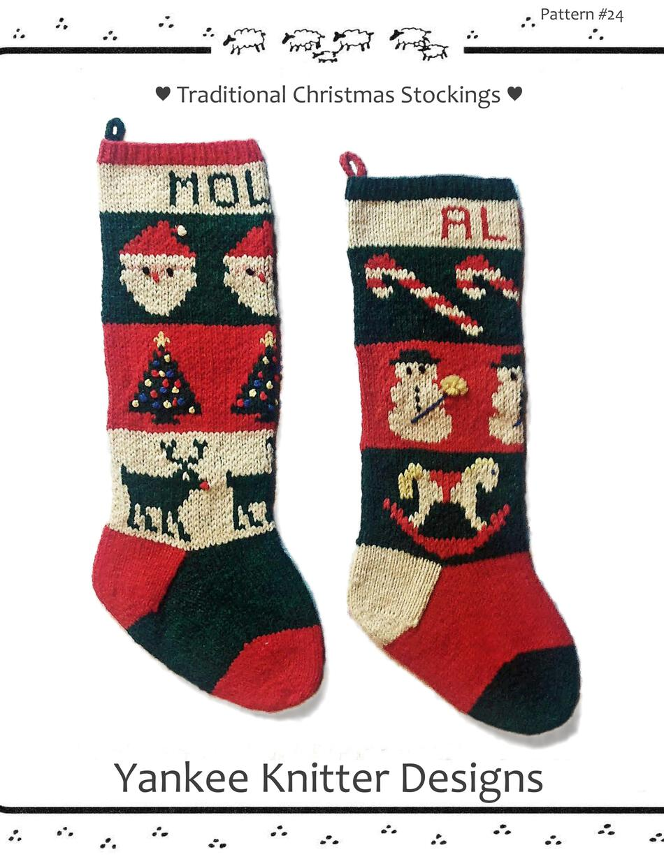 Knitting Patterns Traditional Christmas Stockings  Yankee Knitter