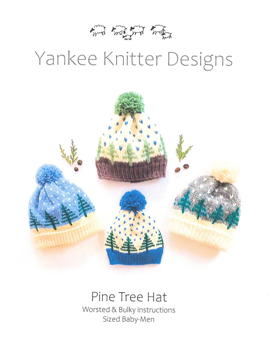 Knitting Patterns Pine Tree Hat  Yankee Knitter