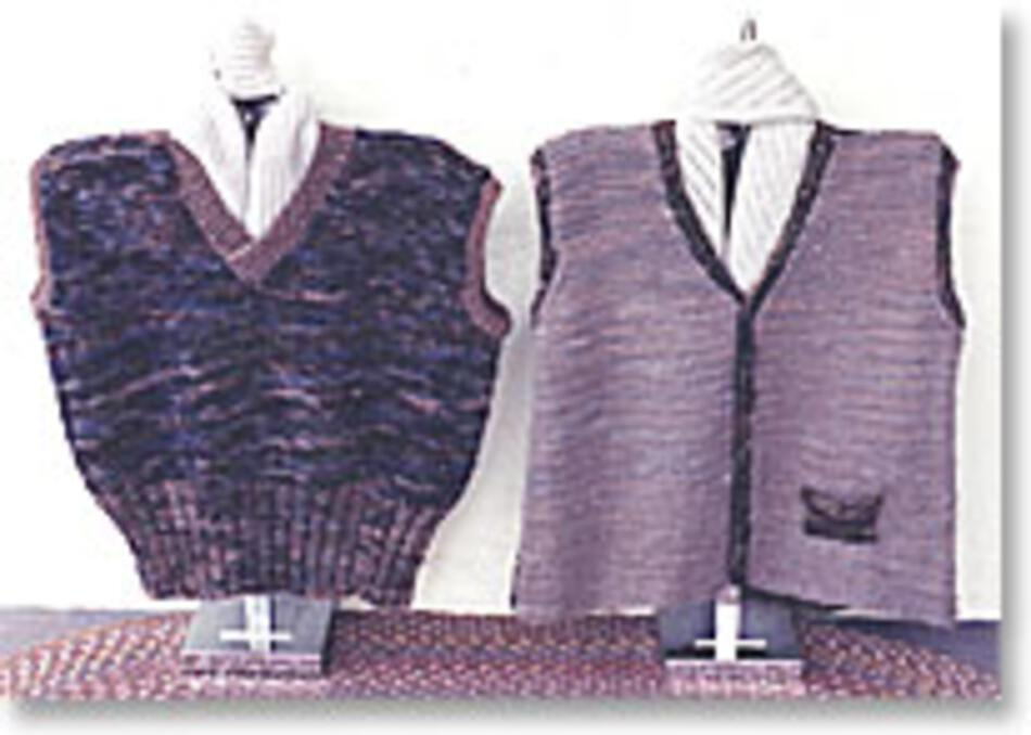 Basic Knitted Vest Knitting Pattern Halcyon Yarn