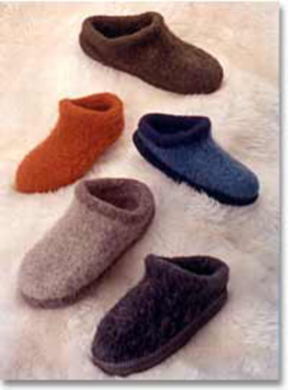 Knitting Patterns Fiber Trends Felt Clogs