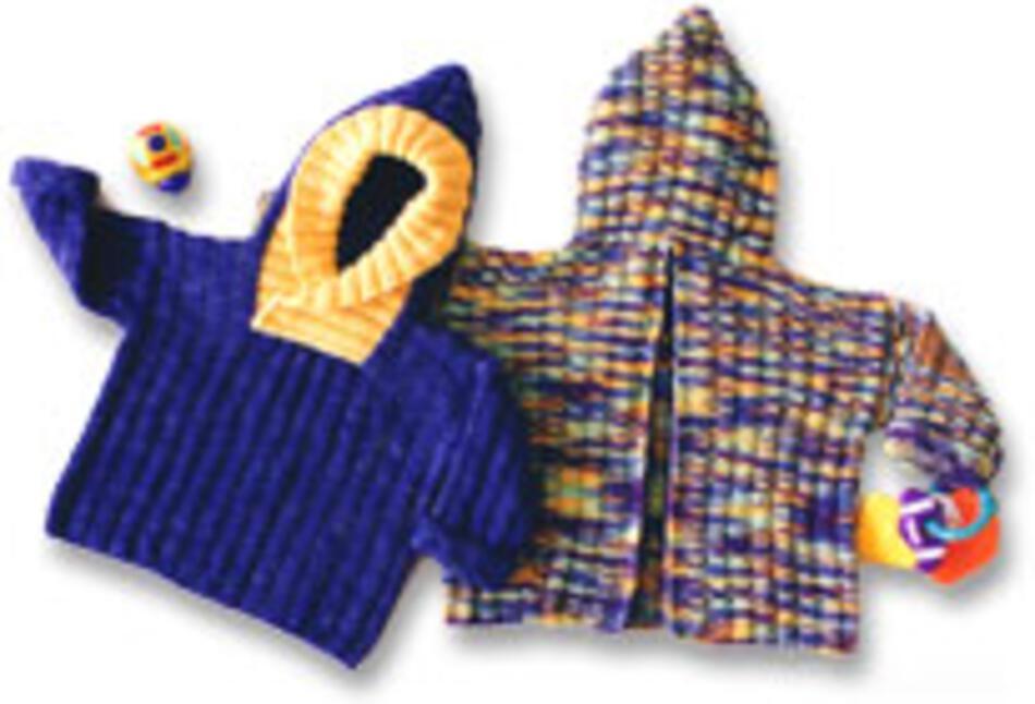 Back Zip Baby Jacket, Knitting Pattern - Halcyon Yarn