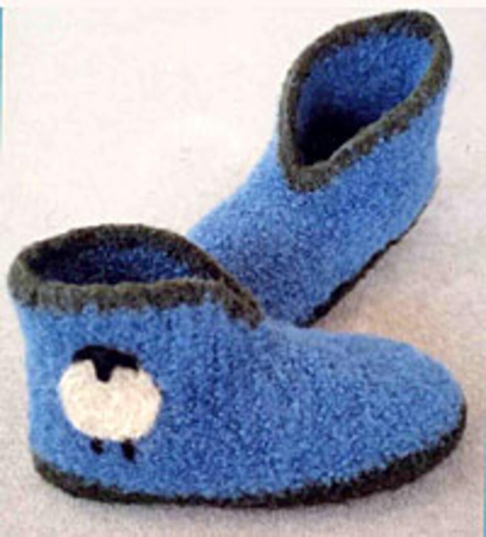 Crocheted Felt Boot Slippers, Crochet Pattern - Halcyon Yarn