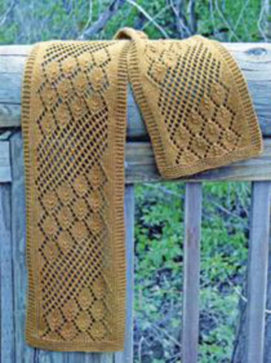 Knitting Patterns Streaming Leaves Scarf