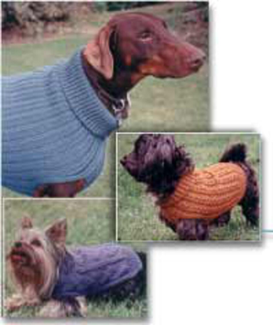 Fiber Trends- Dandy Dog Sweaters, Knitting Pattern - Halcyon Yarn