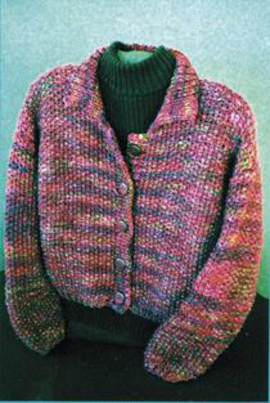 Knitting Patterns Fiber Trends  Simply Seed Jacket