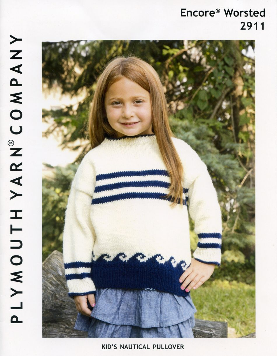 Knitting Patterns Encore Kidaposs Nautical Pullover