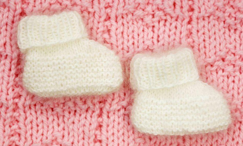 Knitting Patterns Angora Wool : Angora Baby Booties, Knitting Pattern - Halcyon Yarn
