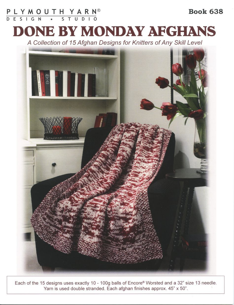 Done By Monday Afghans, Knitting Pattern - Halcyon Yarn