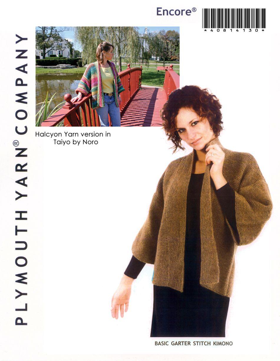 Basic Garter Stitch Kimono Knitting Pattern Halcyon Yarn