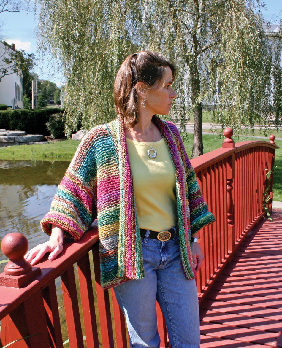 Basic Garter Stitch Kimono, Knitting Pattern - Halcyon Yarn