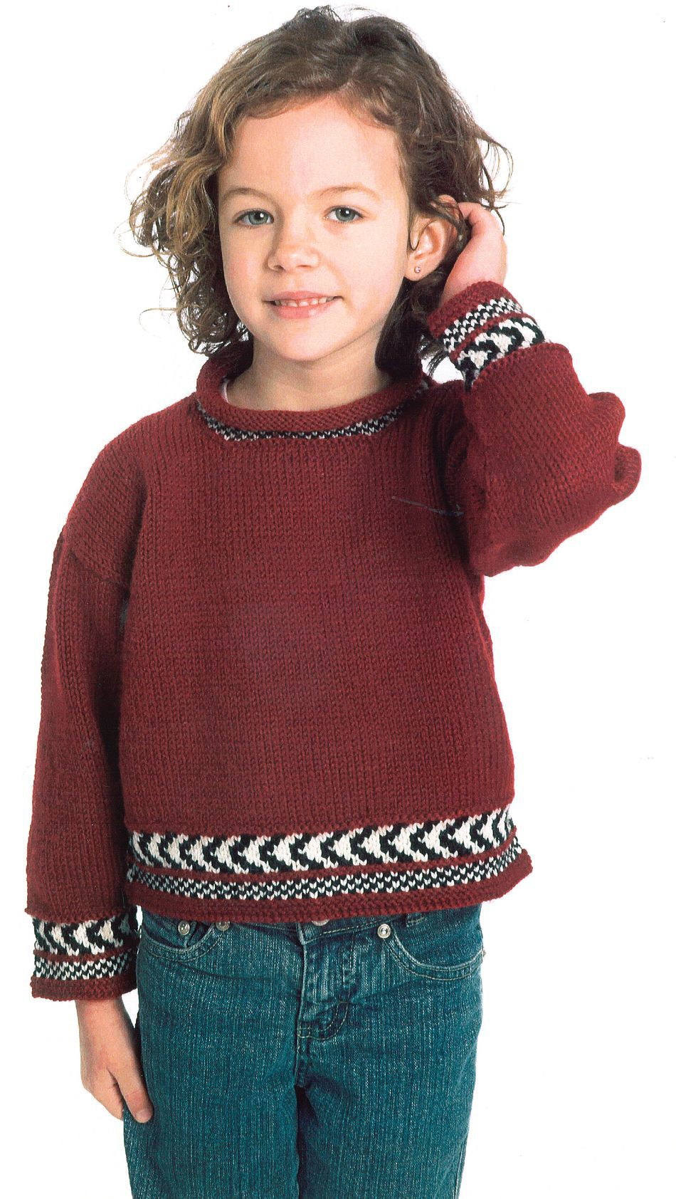 Knitting Patterns Childaposs Fair Isle Pullover