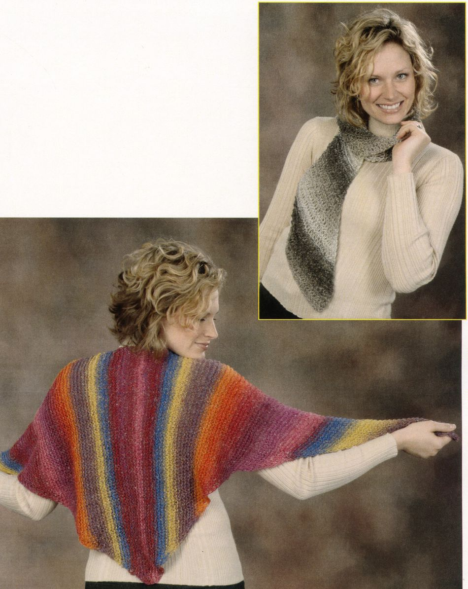 Ponchos And Shawls. Knitting Patterns ... Halcyon Yarn