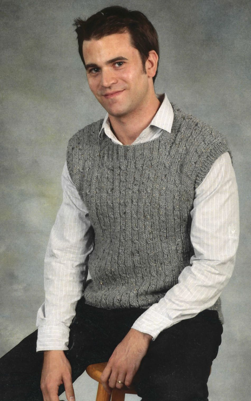 Knitting Pattern Central Men s Vests : Mens Vest, Knitting Pattern - Halcyon Yarn