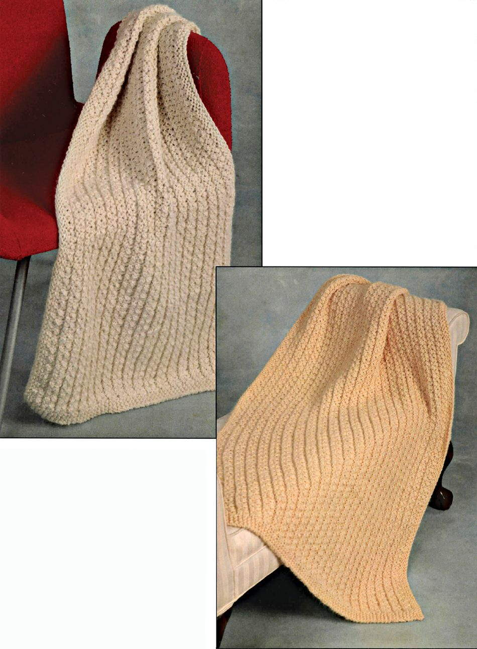 CLEARANCE Lap Throw, Knitting Pattern - Halcyon Yarn