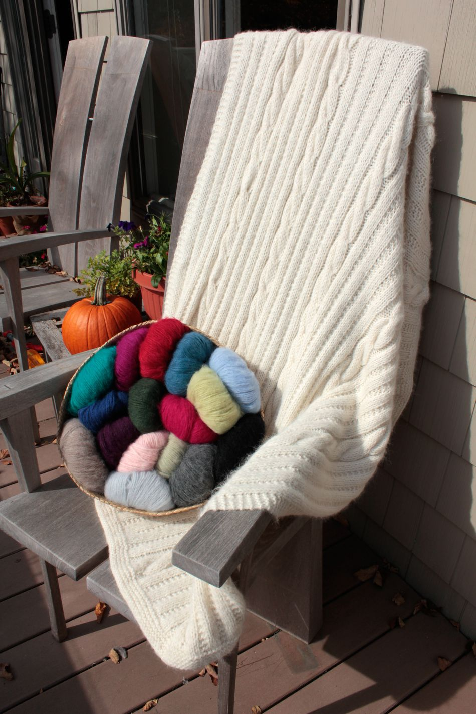 Knitting Patterns Cabled Afghan