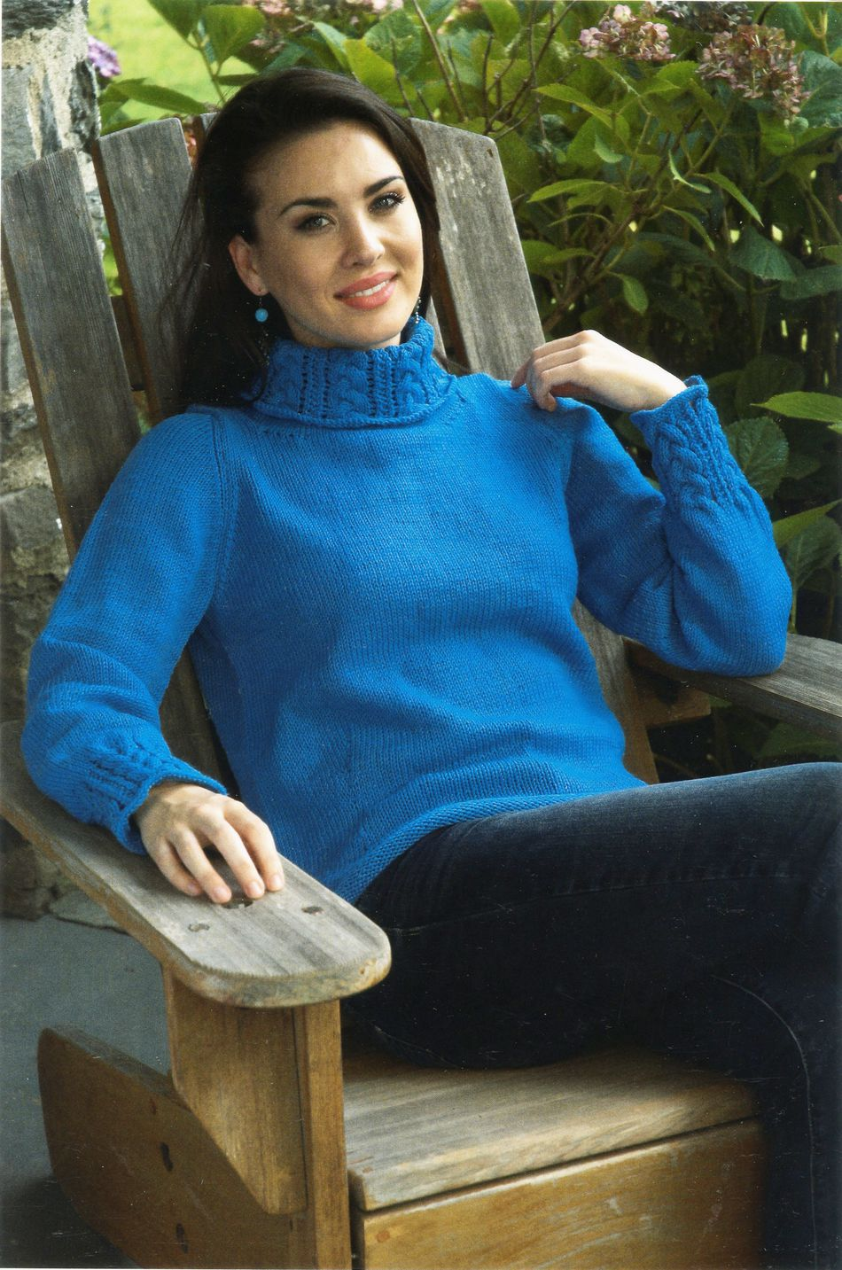 Knitting Patterns Womenaposs Cable Detail Pullover