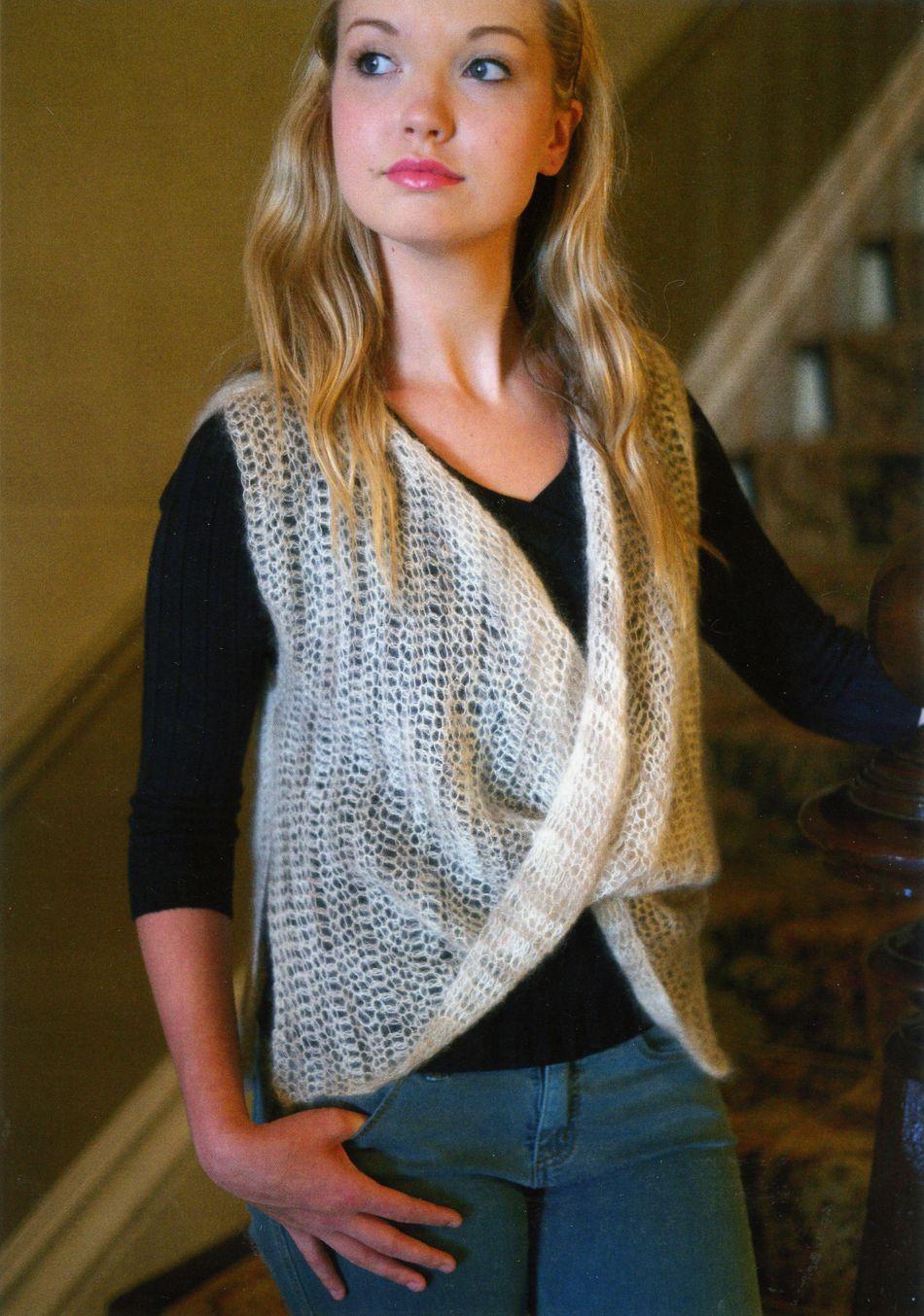 Crochet Moebius-Look Vest, Knitting Pattern - Halcyon Yarn