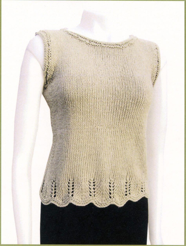Chevron Trim Top Knitting Pattern Halcyon Yarn