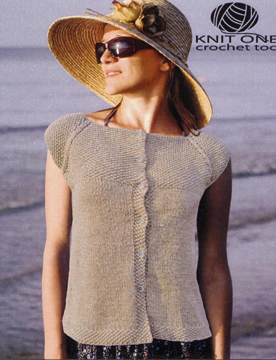Knitting Patterns Seed Stitch Yoke Cardie