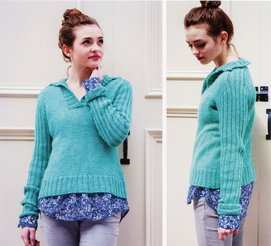 Knitting Patterns Barnaby VNeck with Collar