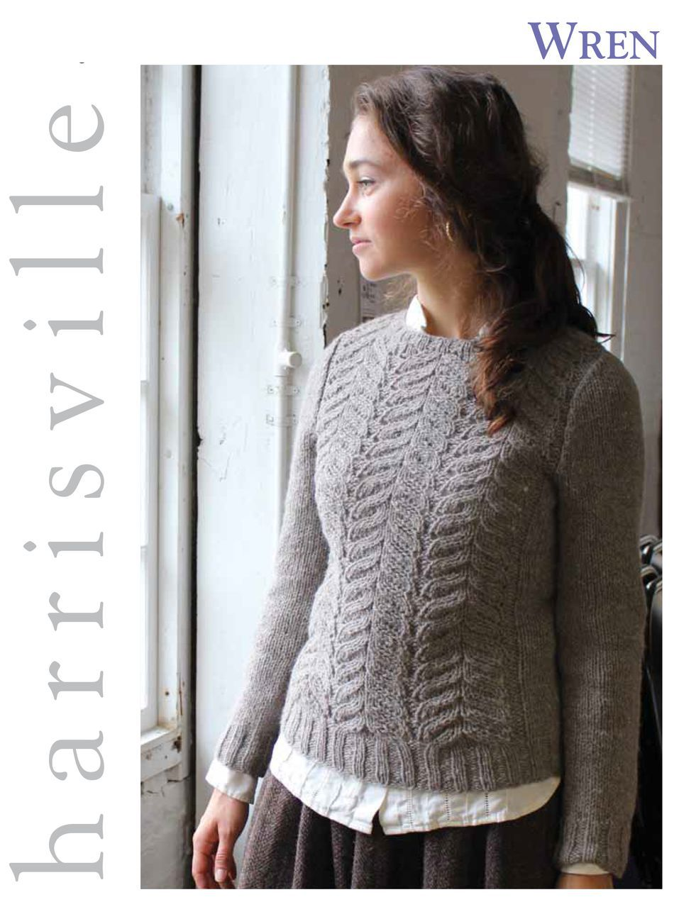 Knitting Patterns Wren Pullover Harrisville Designs